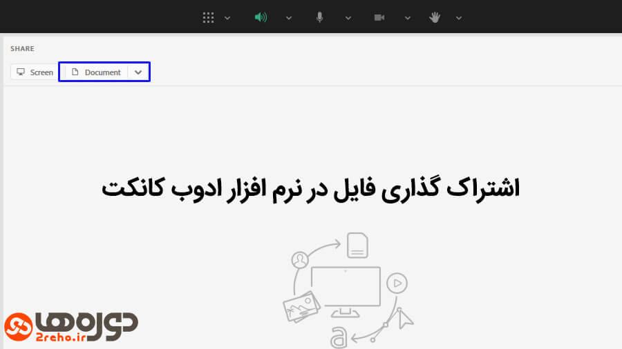 آپلود فایل در ادوبی کانکت (Adobe Connect)
