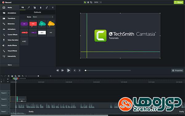 ساخت فیلم آموزشی با نرم افزار کمتزیا (Camtesia)
